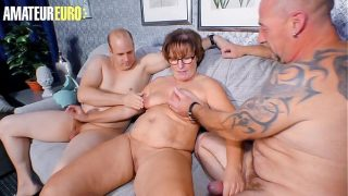 Amateur German Wife Take Turns With Husband And Their Neighbour