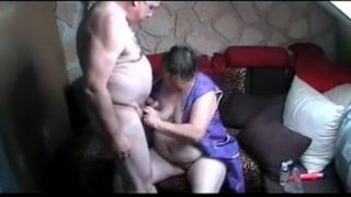 Fat And Old Couple Being Naughty At Home