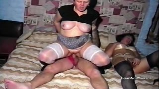 Foul mouth council estate mature bbw housewife in threesome fuck