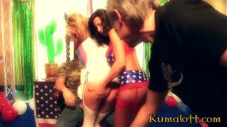 Horny Babes Having Hardcore Fuck At American Independence Day