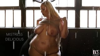 Promo The Sexy BBW Striptease with Huge Dildo featuring Mistress Delicious