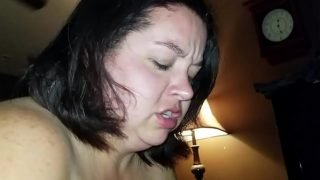 Sexy BBW Sucks Dick and Squirts all Over Cock (pt 1)